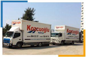 İstanbul anadolu yakası kamyon Kozcuoğlu Nakliye Şirketi Aracı