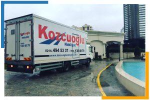 İstanbul evden eve nakliyat kamyonu Kozcuoğlu nakliye şirketi