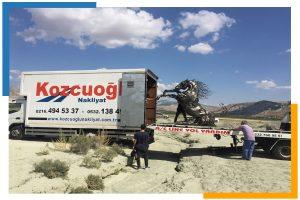 İstanbul sanat eseri taşıma aracı Kozcuoğlu Nakliyat şirketi
