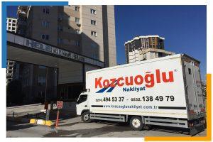 İstanbul üst uygarlık hijyenik nakliye aracı Kozcuoğlu evden eve nakliye şirketi