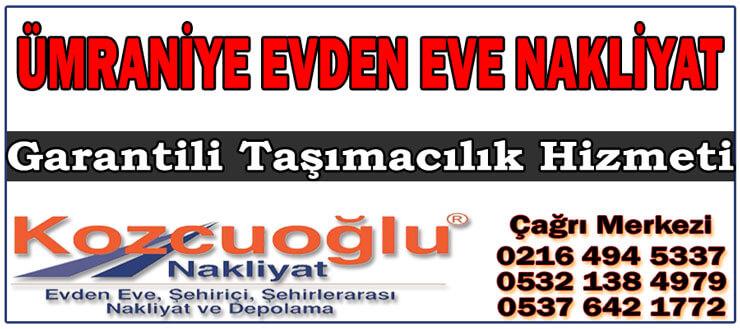 Ümraniye Evden Eve Nakliyat Taşıma - İstanbul Garantili Nakliyat Firması