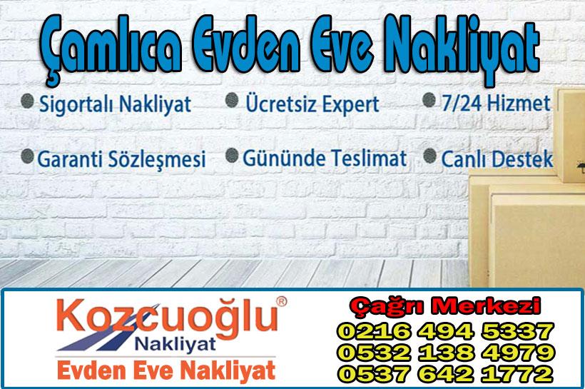 Çamlıca Evden Eve Nakliyat - Kozcuoğlu İstanbul Çamlıca Nakliyat Şirketi