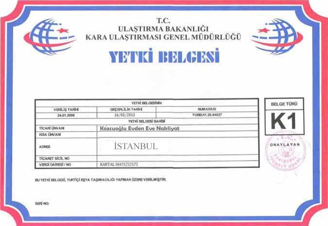 istanbul-kozcuoglu-evden-eve-nakliyat-k1-belgesi