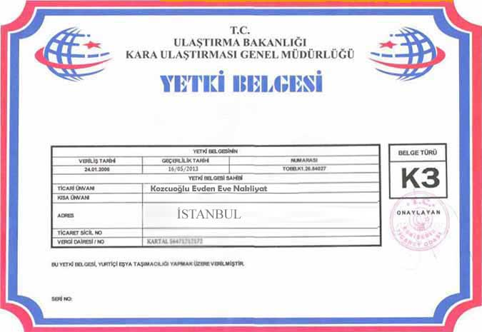 istanbul-kozcuoglu-evden-eve-nakliyat-k3-belgesi