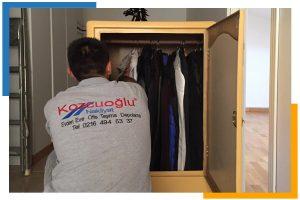 İstanbul Avrupa Yakası Eşya Paketleme Ambalajlama Kolileme askılı elbise taşıma dolabı