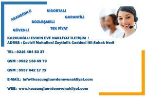Evden eve nakliyat firması Telefon iletişim irtibat no Contact İstanbul Kozcuoğlu Nakliyat şirketi