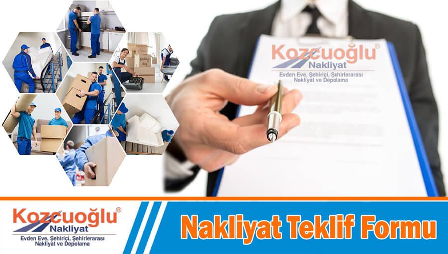 Nakliyat Teklif Formu İstanbul evden eve nakliyat teklif formu kaliteli güvenli taşıma ücretleri