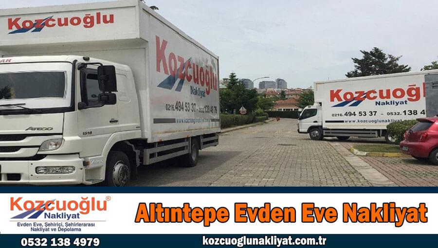Altontepe evden eve nakliyat İstanbul altıntepe nakliye fiyatları